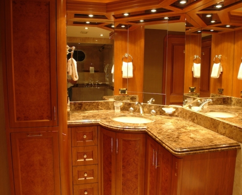 Tanzanite King State Room Bathroom Before - Innovative Creations