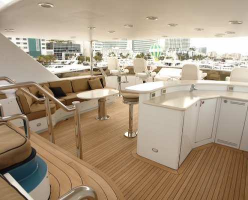 Tanzanite Flybridge Sun Deck Before - Innovative Creations